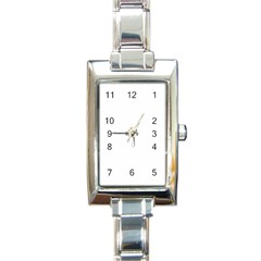 Polka Space Background Rectangle Italian Charm Watch