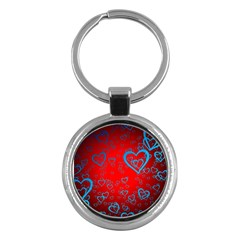 Heart Light Course Love Key Chains (round)