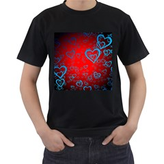 Heart Light Course Love Men s T Shirt (black) (two Sided)