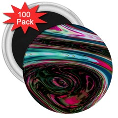 Streak Colorful Iridescent Color 3  Magnets (100 Pack)