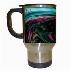 Streak Colorful Iridescent Color Travel Mugs (white)
