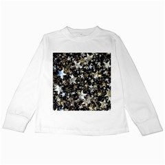 Background Star Christmas Advent Kids Long Sleeve T-shirts by Bejoart