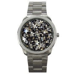 Background Star Christmas Advent Sport Metal Watch