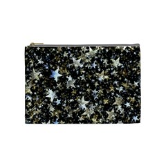Background Star Christmas Advent Cosmetic Bag (medium) by Bejoart