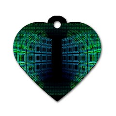 Technology Artificial Intelligence Dog Tag Heart (one Side) by Bejoart