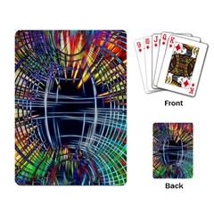 Color Background Structure Lines Playing Cards Single Design