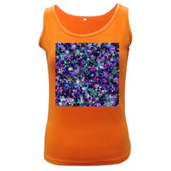 Background Christmas Star Advent Women s Dark Tank Top by Bejoart