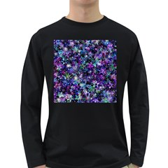 Background Christmas Star Advent Long Sleeve Dark T-shirt by Bejoart