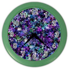Background Christmas Star Advent Color Wall Clock by Bejoart