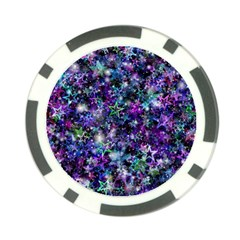Background Christmas Star Advent Poker Chip Card Guard by Bejoart