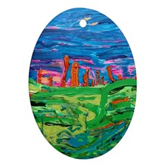 Our Town My Town Ornament (oval) by arwwearableart