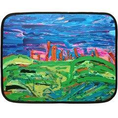 Our Town My Town Double Sided Fleece Blanket (mini)  by arwwearableart