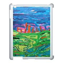 Our Town My Town Apple Ipad 3/4 Case (white) by arwwearableart