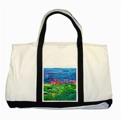 Our Town My Town Two Tone Tote Bag by arwwearableart