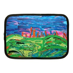 Our Town My Town Netbook Case (medium) by arwwearableart