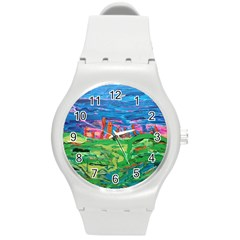 Our Town My Town Round Plastic Sport Watch (m)
