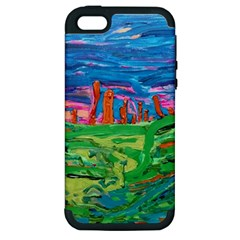 Our Town My Town Apple Iphone 5 Hardshell Case (pc+silicone)