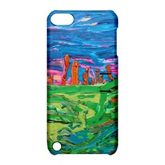 Our Town My Town Apple Ipod Touch 5 Hardshell Case With Stand by arwwearableart