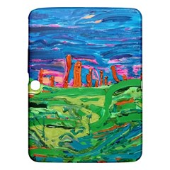 Our Town My Town Samsung Galaxy Tab 3 (10 1 ) P5200 Hardshell Case  by arwwearableart
