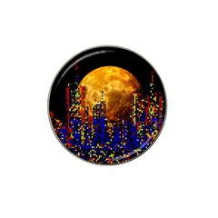 Skyline Frankfurt Abstract Moon Hat Clip Ball Marker