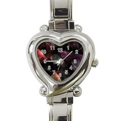 Crystals Background Design Luxury Heart Italian Charm Watch
