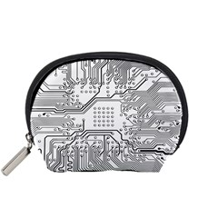 Circuit Board Pcb Computer Accessory Pouch (small) by Bejoart