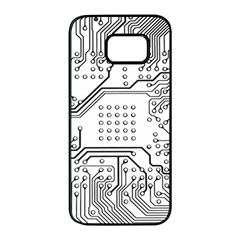Circuit Board Pcb Computer Samsung Galaxy S7 Edge Black Seamless Case by Bejoart