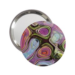 Retro Background Colorful Hippie 2 25  Handbag Mirrors by Bejoart