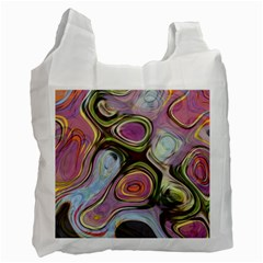 Retro Background Colorful Hippie Recycle Bag (two Side) by Bejoart