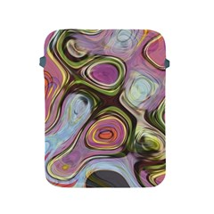 Retro Background Colorful Hippie Apple Ipad 2/3/4 Protective Soft Cases by Bejoart