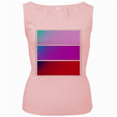 Pattern Banner Set Dot Abstract Women s Pink Tank Top by Bejoart