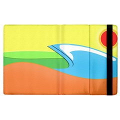Waves Beach Sun Sea Water Sky Apple Ipad 2 Flip Case by Bejoart