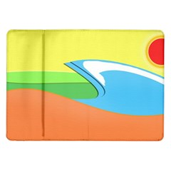 Waves Beach Sun Sea Water Sky Samsung Galaxy Tab 10 1  P7500 Flip Case