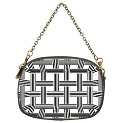 Seamless Stripe Pattern Lines Chain Purse (two Sides) by Bejoart