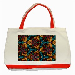 Grubby Colors Kaleidoscope Pattern Classic Tote Bag (red) by Bejoart