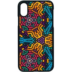 Grubby Colors Kaleidoscope Pattern Apple Iphone Xs Seamless Case (black)
