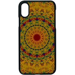 India Mystic Background Ornamental Apple Iphone Xs Seamless Case (black)