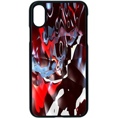 Abstract Lines Color Red Apple Iphone Xs Seamless Case (black)