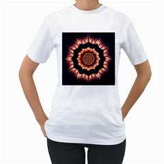 Digital Art  Artwork Abstract Women s T Shirt (white) (two Sided)