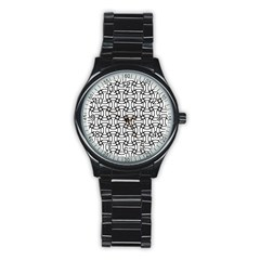 Ellipse Pattern Ellipse Dot Pattern Stainless Steel Round Watch by Bejoart