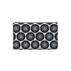Pattern Swirl Spiral Repeating Cosmetic Bag (small) by Bejoart