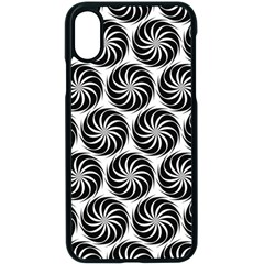 Pattern Swirl Spiral Repeating Apple Iphone Xs Seamless Case (black)