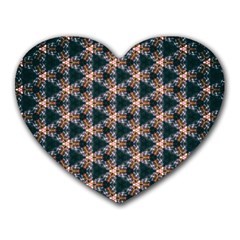 Abstract Light Fractal Pattern Heart Mousepads
