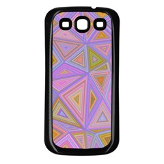Triangle Digital Polygonal Poly Samsung Galaxy S3 Back Case (black) by Bejoart