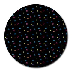Background Abstract Texture Round Mousepads