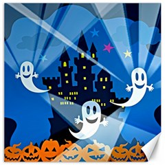 Halloween Ghosts Haunted House Canvas 16  X 16  by Wegoenart