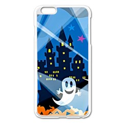 Halloween Ghosts Haunted House Apple Iphone 6 Plus/6s Plus Enamel White Case