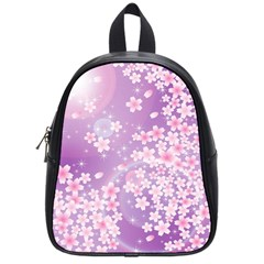 Japanese Sakura Background School Bag (small)