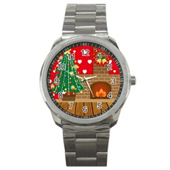 Christmas Room Living Room Sport Metal Watch by Wegoenart
