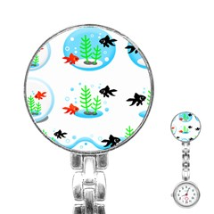 Fishbowl Fish Goldfish Water Stainless Steel Nurses Watch